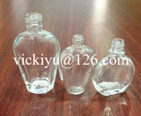 3~12ml Flat Essential Balm Glass Bottles, Glass Medicine Bottles