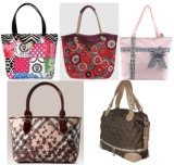Top Quilted Fabric Lady Handbag