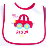 Custom Made Cartoon Printed Promotional Customized Cotton Terry Baby Wear Bib
