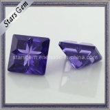 Amethyst Square Shape Special Cut Cubic Zirconia Gemstone