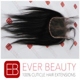 Peruvian Virgin Hair Bundles with Lace Closure Straight