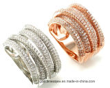 Fashion Style 925 Silver Ring Silver Jewelry with Cubic Zircon (R9551)