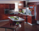 Stain Grade Cherry Kit Hen Solid Wood Kitchen Cabinet #221