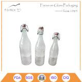 Set of 3 Glass Beverage Bottle with Flip up Stopper