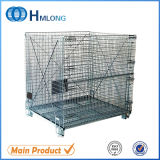 Large Folding Rolling Wire Mesh Container