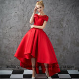 Women Asymmetrical Short Sleeve Sexy Prom Dress Evening Gown