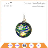 Colored Glass Ball with Hook for Tea Light Candle