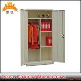 Swing Door Steel Wardrobe Metal Cloths Hanging Storage Cabinet with Hanger Rod