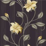 Hot Floral Design Vinyl Wall Paper Approve CE (9131)