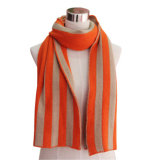 Lady Acrylic Knitted Fashion Striped Scarf (YKY4195)