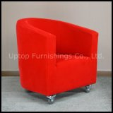 Hotel Leisure Red Fabric Arm Chair for Sale (SP-HC262)