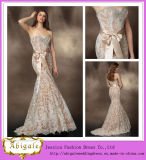 2014 New Fashion Mermaid Sexy Wedding First Night Dresses with Sweetheart Zipper Back Champagne Satin White Lace