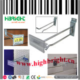 Metal Hook with Transparent Plastic Price Tag