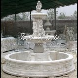 White Travertine Fountain for Gift Mf-514