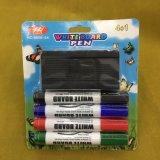 4PCS Whiteboard Marker Pen with Brush, Stationery Set, Dry Eraser Marker Pen