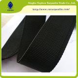 25mm Black Nylon Plain Webbing Strap Ribbon for Bags