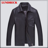 Simple PU Jacket for Men Fashion Winter Clothing