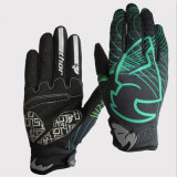 Black-Green Fashion Full Finger Gloves for Sports Racing Glove (MAG54)