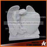 Beautiful Angel with Heart Tombstone for Monument