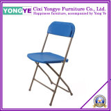 Plastic Metal Chromed Metal Folding Chair at Outdoor