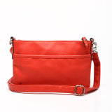 Red Simple Design Fashion PU Lady Crossbody Bag (MBNO037106)