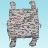 Plush Zebra Cushion with Folded Body