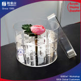 Custom Acrylic Round Flower Box with Logo