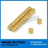 N48h Permanent Gold Disc Neodymium Magnet