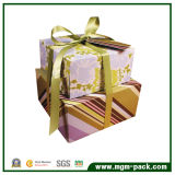 Colorful Exquisite Paper Chocolate Packaging Box with Ribbons