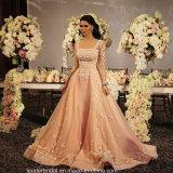 Classic Princess Prom Dress Long Sleeves Sequins Evening Dresses H201769