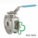 Stainless Steel Wafer Type Ball Valve with Flanged End