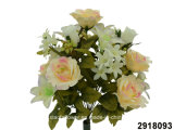 Artificial/Plastic/Silk Flower Rose/Rosebud/Lily Mixed Bush (2918093)