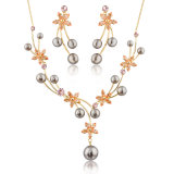 Latest Cooper Alloy Zircon Pearl Fashion Accessory Jewelry Set