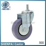 """4"""" Polythene Threaded Stem Swivel Caster Wheel"""