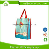 Recyclable Supermarket Tote Bag OPP Laminated Nonwoven Shopping Bags