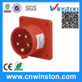 5pin Panel Mounted Plug with CE, RoHS Approval