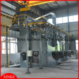 More Hangers with Endless Chain Shot Blasting Machine