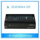2016 Latest Version Zgemma H5 HDTV Receiver with Hevc/H. 265 DVB-S2+T2/C Twin Tuners