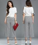 New Design Ladies Palozzo Pants with DOT Printing Pattern