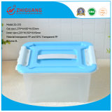 Hot Sale Colorful Plastic Storage Box Transparent Small Gift Box Food Container with Handles