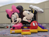 High Grade Inflatable Miky Mouse Bouncer with Slide Inflatable Combo