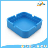 Promotional Unbreakable Eco-Friendly Portable Smoking Accessory Square Silicone Ashtray