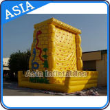 Children Play Inflatable Rock Climbing Wall with Slide