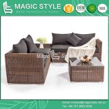 Round Wicker Sofa Set Garden Rattan Sofa Set Patio Corner Sofa Set (Magic Style)