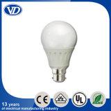 E27 Plastic Covering aluminium Covered LED Bulb 9W