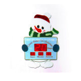 Creative Gift Big Size LED Snowman Christmas Countdown Timer Clock