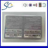 Prepaid Paper Card