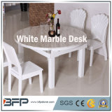 White Natural Stone Marble Workbench for Table/Desk/Coffee Desk