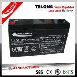 6V7.2ah AGM Lead Acid Battery for UPS, Emergency Light