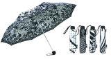 Black&White Aluminum Compact Umbrella (YS-3FM21083937R)